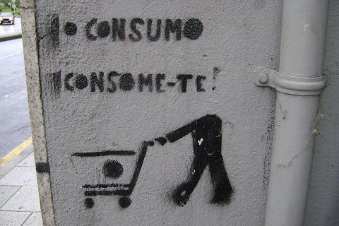 Grafite anti-consumista. Foto: Edgar Fabiano