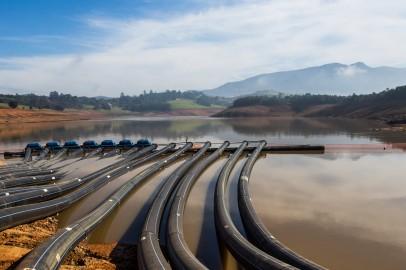 Sistema Cantareira no período da crise hídrica. Foto: Vagner Campos/A2 FOTOGRAFIA