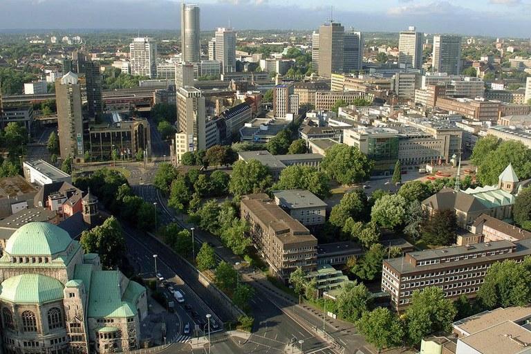 """Essen, na Alemanha: infraestrutura verde como """"uma solução de base natural"""". Foto: Divulgação"""