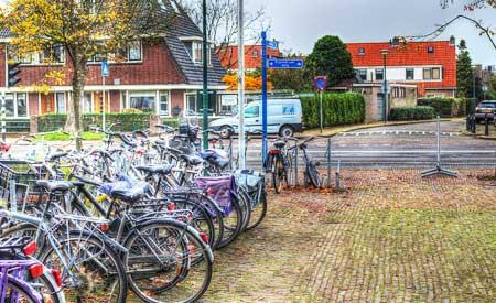 Bicicletas simbolizam a sustentabilidade na Holanda.Foto: Carlos M. M.
