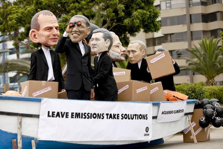 Manifesto durante a COP20
