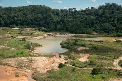 Impacto da mineração na região da Amazônia brasileira. Foto: © Zig Koch/WWF