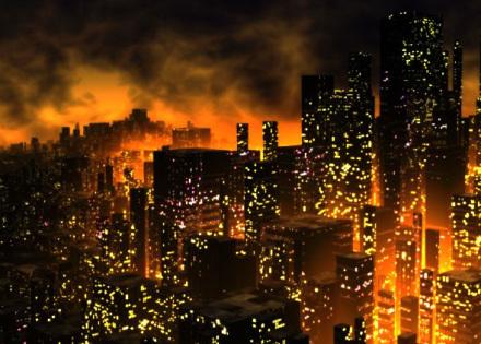 """Cena do game """"Dystopia"""", ambientado num futuro em que a falta de água estendeu-se por todo o planeta, tornando-se profunda e permanente"""