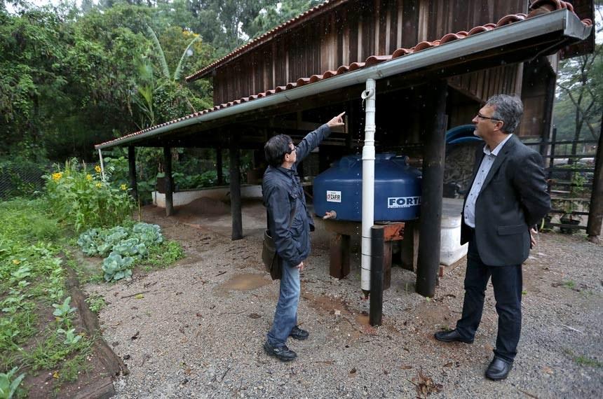 Edificação no Parque Chico Mendes em Osasco (SP) já utiliza a captação de água pluvial. Foto: Ivan Cruz/SECOM/PMO