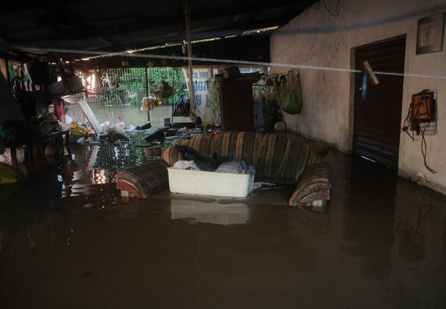 O bairro durante a enchente de 2014. Foto: Lunaé Parracho/Greenpeace