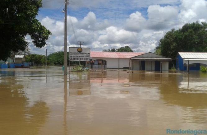 Moradores do Distrito de Nazaré foram removidos das casas. Foto: Rondôniagora