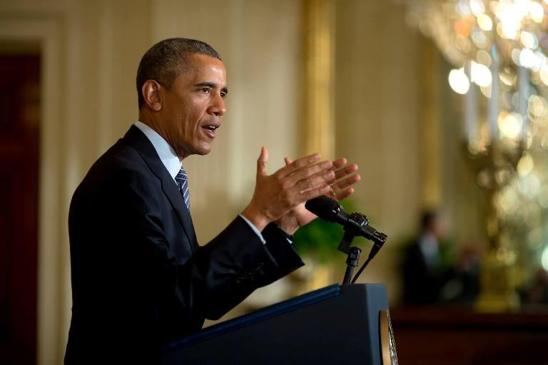03/08/2015-  EUA - O Presidente norte-americano, Barack Obama, afirmou hoje, na apresentação do Plano Energia Limpa, que não há maior ameaça para as futuras gerações que as alterações climáticas. Foto: Foto: Chuck Kennedy/ TWH - Fotos Públicas