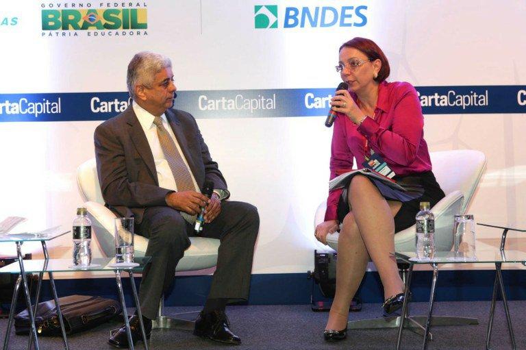 José Carlos de Miranda Faria, da Chesf. E Tania Consentino, da Schneider Eletric. Foto: Greg Salibian