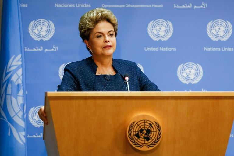 27/09/15- Nova Iorque- EUA- Presidenta Dilma Rousseff durante coletiva de imprensa na ONU. Foto: Roberto Stuckert Filho/ PR