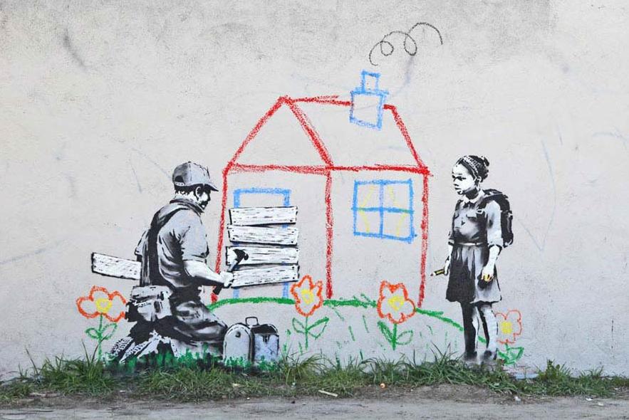 Banksy. Foto: flickr.com/franciscouhlfelder