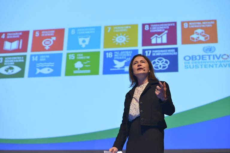 Marina Grossi fala na abertura do evento. Foto: Divulgação