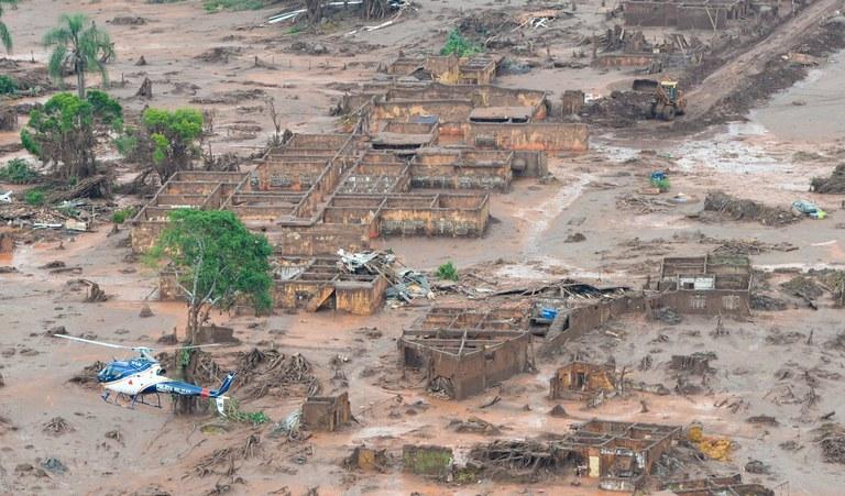 Área atingida pela lama da mineradora Samarco, em mariana (BH)