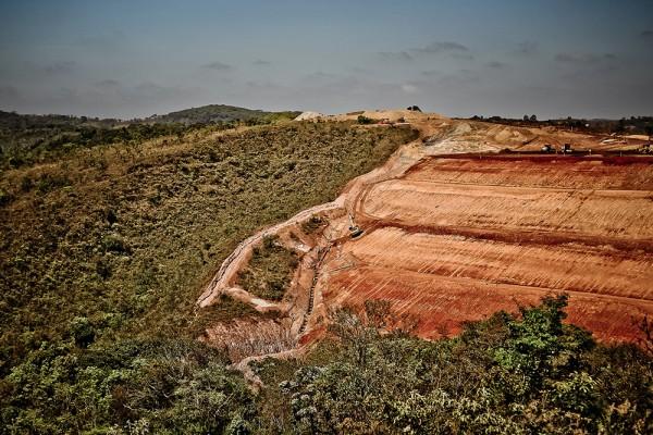Mineração na cidade de Congonhas, em Minas Gerais. Foto: Mídia Ninja