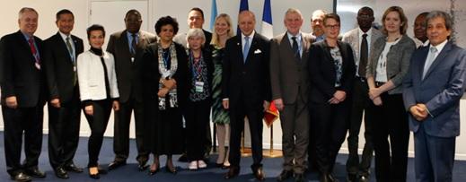 Grupo de ministros facilitadores das negociações em Paris. Foto: Divulgação/UNFCCC