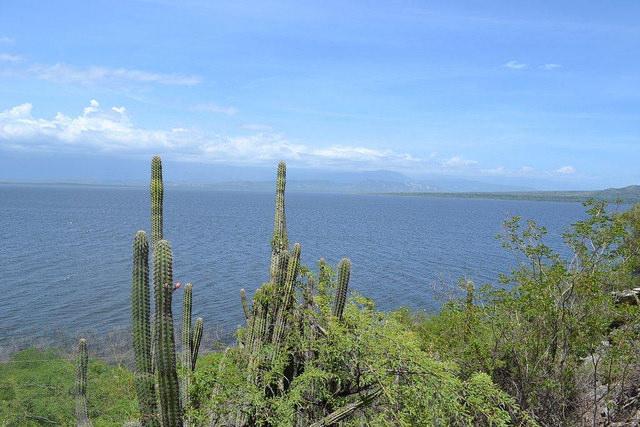 Vista do Mar do Caribe, na República Dominicana, perto da fronteira com o Haiti na ilha La Espanhola, que é compartilhada pelos dois países. As cerca de sete mil ilhas caribenhas guardam milhares de espécies endêmicas, cuja preservação se complica pela mudança climática. Foto: Dionny Matos/IPS