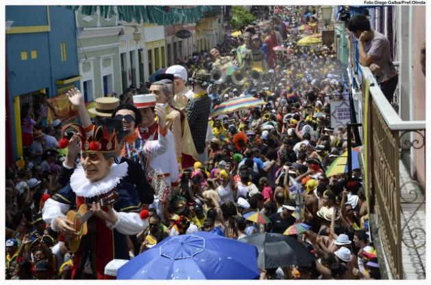 Os carnavais fazem transbordar a alegria e a festa nas cidades brasileiras, como ocorreu este ano em Olinda, no nordeste do país. Foto: Diego Galba/Prefeitura de Olinda
