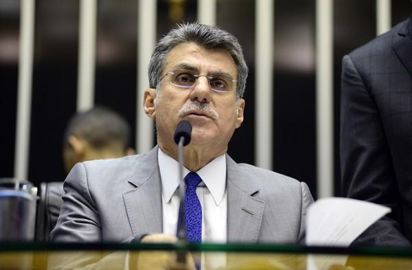 O senador Romero Jucá (PMDB-RR) em sessão do Congresso Nacional para votação da Lei de Diretrizes Orçamentárias (LDO) e do orçamento de 2016. Foto: Gustavo Lima/ Câmara dos Deputados