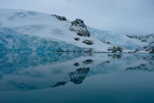 Geleira Stenhouse, na ilha Rei George, Península Antártica. Foto: Claudio Angelo/OC