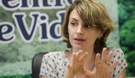 A vice-diretora do Instituto Centro de Vida (ICV), Alice Thuault, em entrevista à Agência Brasil. Foto: Marcelo Camargo/Agência Brasil