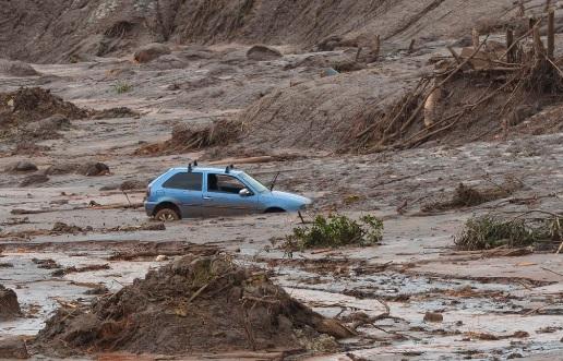Distrito de Bento Rodrigues, em Mariana (MG), atingido pelo rompimento de barragem da Samarco. Foto: Antonio Cruz/Agência Brasil