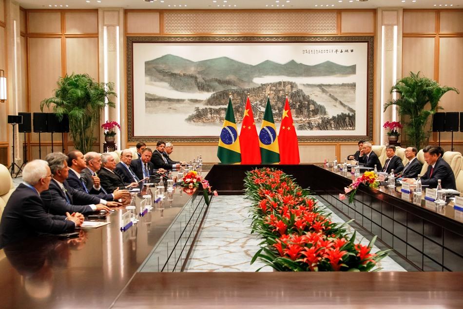 Presidente Michel Temer durante encontro com o presidente da República Popular da China, Xi Jinping. O encontro antecede a reunião do G20. Foto: Beto Barata/ PR