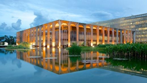 O Palácio Itamaraty, sede do Ministério das Relações Exteriores. Foto: Expedia