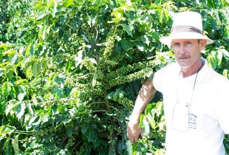 José Flavio Ferraz na Fazenda Junqueira Reis. Foto: Arquivo pessoal