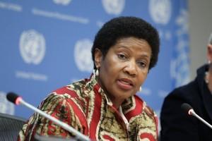 Phumzile Mlambo-Ngcuka, diretora executiva da ONU Mulheres. Foto: Devra Berkowitz/ONU