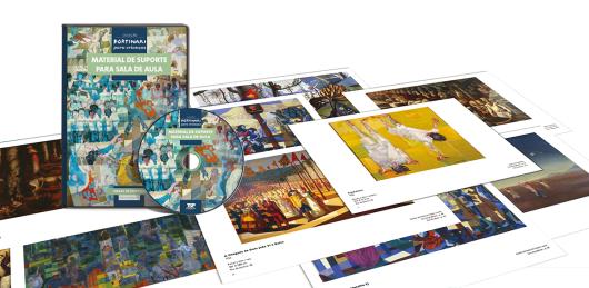 """A coleção """"Portinari Para Crianças"""" (TSP Ed.) reúne livros e DVD e promove um diálogo entre as obras de arte e diferentes disciplinas escolares, como História, Sociologia, Economia, Antropologia, Biologia."""