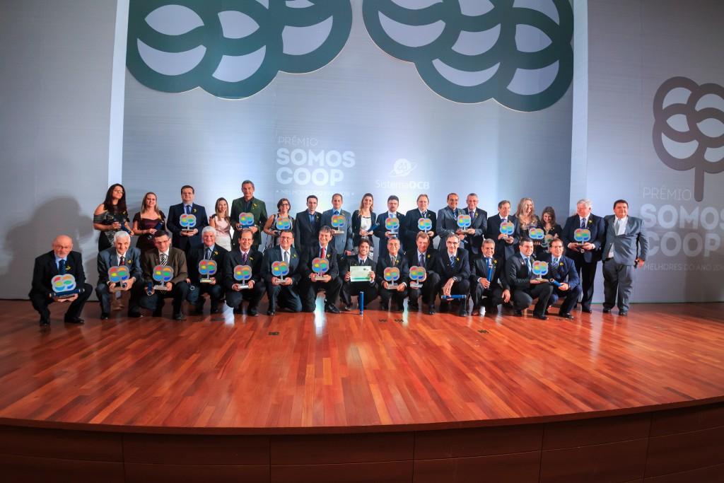 Vencedores da 10ª edição do Prêmio SOMOSCOOP. Foto:
