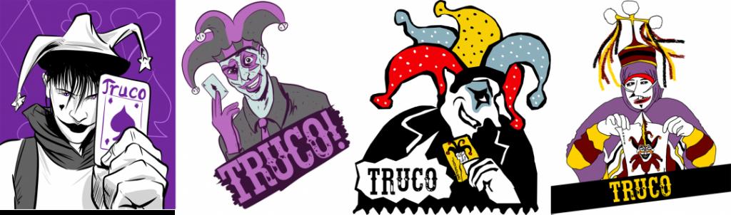Quatro diferentes versões do Truco.