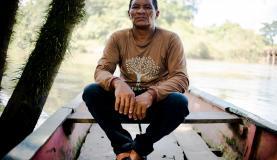 """Valterino Ferreira Santos, conhecido como """"Teca"""", ribeirinho morador da reserva extrativista Guariba-Roosevelt. Foto: Marcelo Camargo/Agência Brasil"""