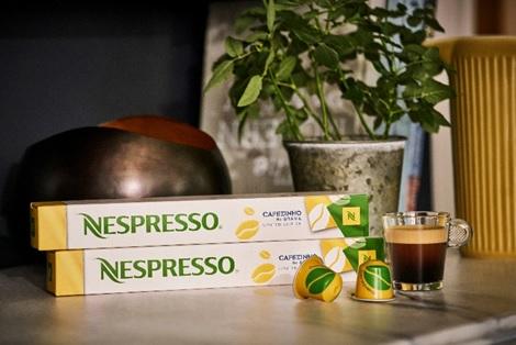 A edição Cafezinho Nespresso veste as cores do Brasil verde e amarelo. Foto: Arquivo Nespresso