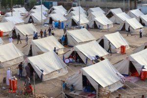 Acampamento de refugiados Al-Jamea, em Bagdá, onde residem 97 famílias da região do departamento de Anbar. Foto: Khuzaie/Unicef Iraque/2015