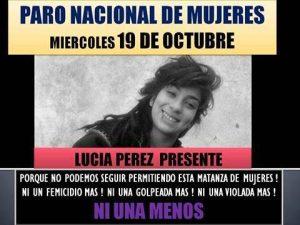 """Cartaz chamando para a """"paralisação"""" de mulheres, por uma hora, sob o lema """"Se meu corpo não importa, produzam sem mim"""", na Argentina, no contexto das mobilizações contra a violência de gênero que <i>[...]</i>    </div>      </div>  </div>       </div>    <div class="""