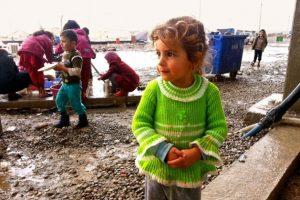 Acampamento para deslocados no norte do Iraque. Entre os temas debatidos na Cúpula Humanitária Mundial (CHM) estava o de como o setor humanitário pode proteger melhor os civis da violência. Foto: Brandon Bateman/Ocha