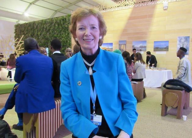 Mary Robinson, enviada especial da ONU para a mudança climática, na COP 22, em Marrakesh. Foto: Fabíola Ortiz /IPS