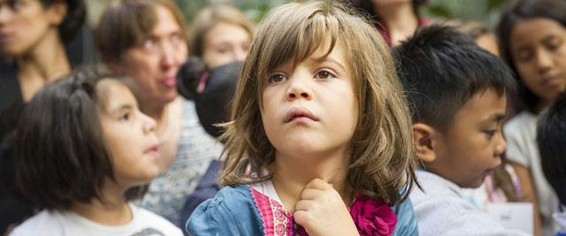 Menina em um centro de recepção de refugiados em Roma, na Itália. Foto: Rick Bajornas/ONU
