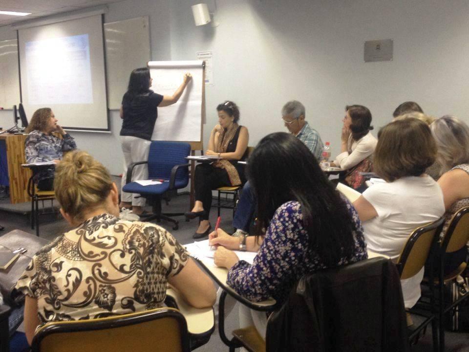 Integrantes do Núcleo do Futuro debatem estratégias em educação para a sociedade brasileira em 2050. Foto: Katherine Rivas