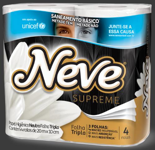 A campanha Neve-Unicef está sendo divulgada nos produtos em todos os pontos de venda nacional. Foto: Divulgação/ Neve