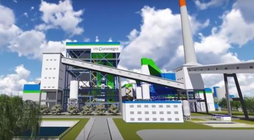 Ilustração mostra como seria a usina depois de construída. Imagem: Divulgação